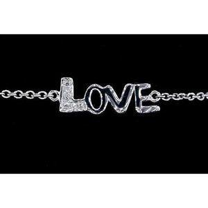 Women Bracelet Diamond 1.50 Carats Love White Gold